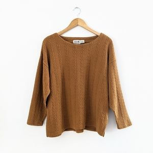 Vintage Relaxed Fit Tan Top